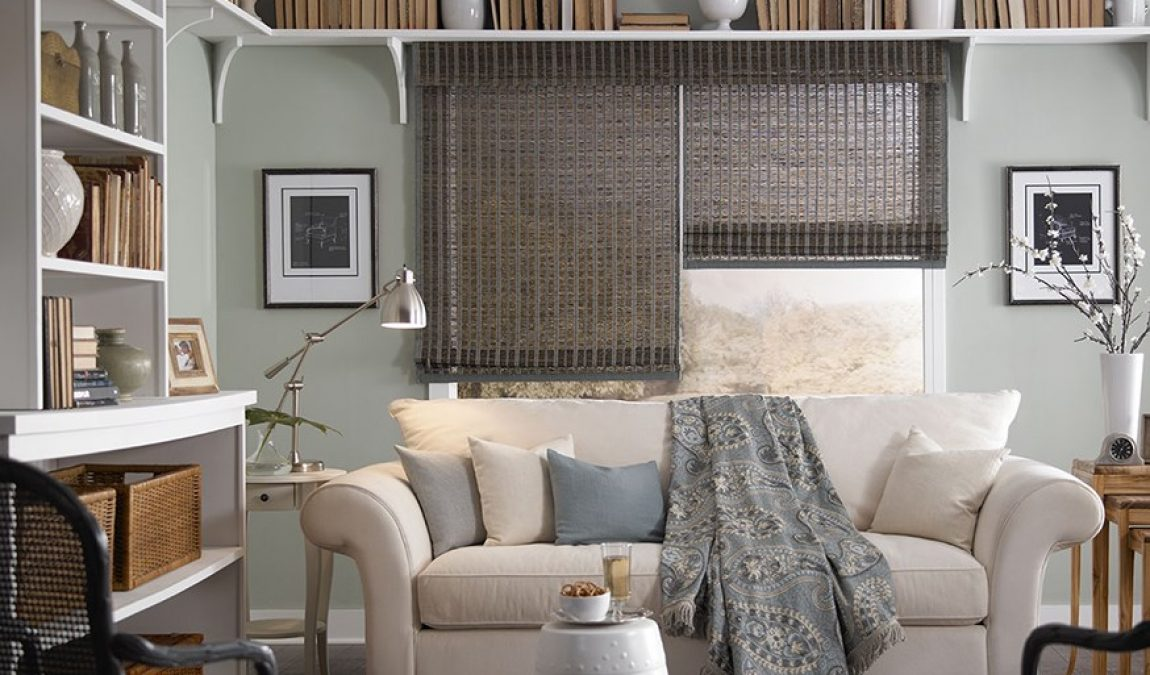 "Making Your Interior Decoration ""Pop"" with Woven Wood Blinds"
